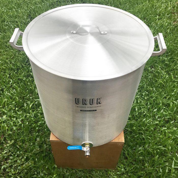 Olla de aluminio 30 litros con vávula