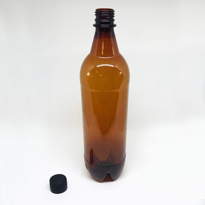 Botella 1 litro pet ambar